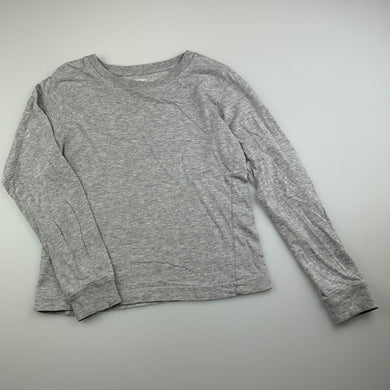 Girls Carter's, grey cotton long sleeve top, GUC, size 6-7