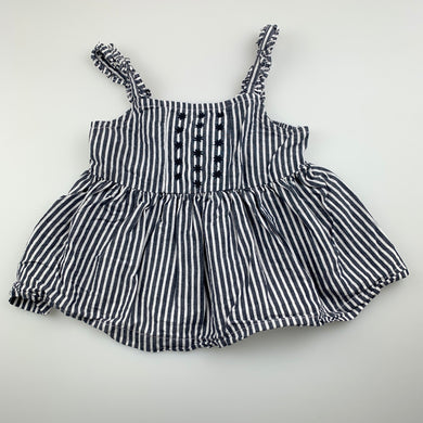 Girls Anko, striped cotton summer top, GUC, size 1