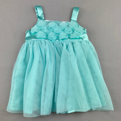Girls Baby Baby, aqua tulle party dress, GUC, size 0