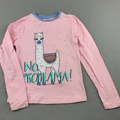 Girls B Collection, pink long sleeve pyjama top, FUC, size 8