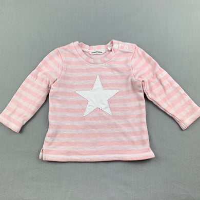 Girls Country Road, pink thick cotton long sleeve top, EUC, size 0