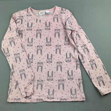 Girls Seed, soft cotton pyjama top, rabbits, EUC, size 10