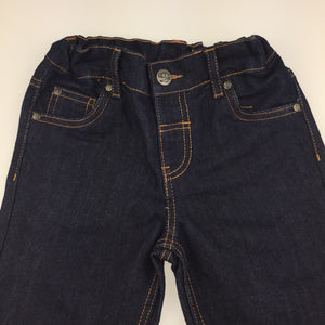 Boys H&T, dark denim jean shorts, adjustable, EUC, size 4