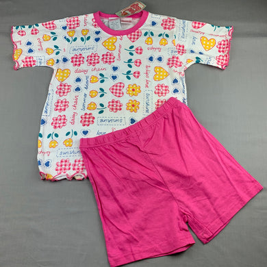 Girls Bed Bugs, cotton pyjama top & shorts set, NEW, size 7