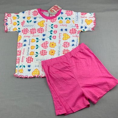 Girls Bed Bugs, cotton pyjama top & shorts set, NEW, size 4