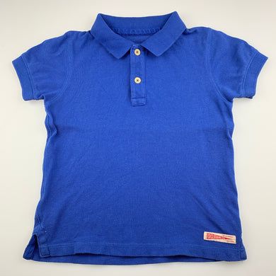 Boys Country Road, royal blue cotton polo shirt / top, GUC, size 4