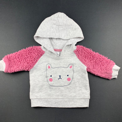 Girls Anko, grey & pink hoodie sweater, FUC, size 000