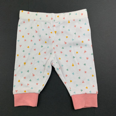 Girls Anko Baby, lightweight leggings / bottoms, hearts, EUC, size 000
