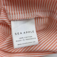 Load image into Gallery viewer, Boys Sea Apple, stripe cotton short sleeve shirt, EUC, size 4