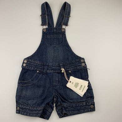 Girls Country Road, dark denim overalls / shortalls, NEW, size 4,