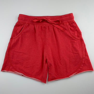 Girls Angel Dreams, red soft feel stretchy shorts, elasticated, GUC, size 10,