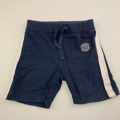 Boys Sprout, navy cotton shorts, elasticated, FUC, size 2,