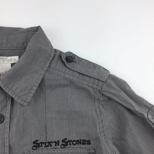 Boys Stix n stones, grey cotton long sleeve shirt, GUC, size 4