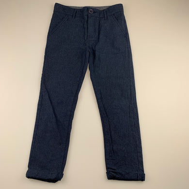 Boys B Collection, navy cotton chino pants, adjustable, Inside leg: 43cm, EUC, size 5,