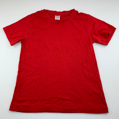 Unisex Clothing & Co, red cotton t-shirt / top, GUC, size 7,
