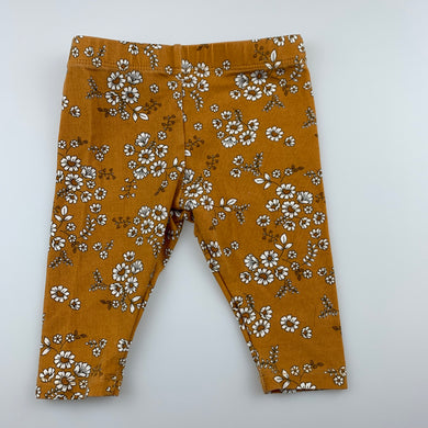 Girls Baby Baby, floral stretchy leggings / bottoms, EUC, size 000,