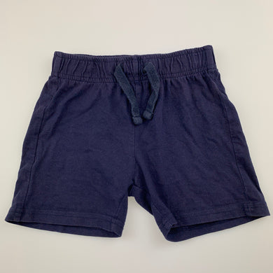 Boys B Collection, navy soft cotton shorts, elasticacted, GUC, size 2,