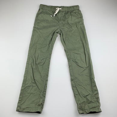 Boys Brilliant Basics, khaki cotton casual pants, elasticated, Inside leg: 50cm, EUC, size 5,