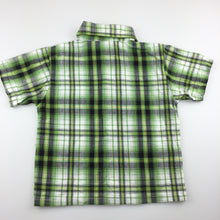 Load image into Gallery viewer, Boys Ben 10, green check cotton short sleeve shirt, GUC, size 2