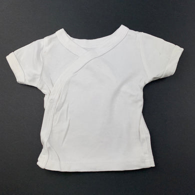 Unisex Babies R Us, white cotton short sleeve top, FUC, size 3 months,