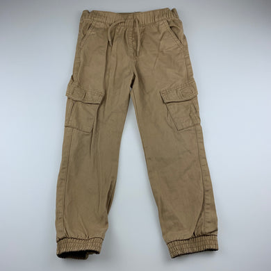 Boys Brilliant Basics, cotton casual pants, elasticated, Inside leg: 45.5cm, EUC, size 5,