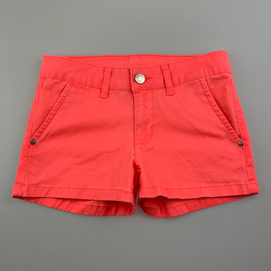 Girls B Collection, fluoro stretch cotton shorts, GUC, size 8,