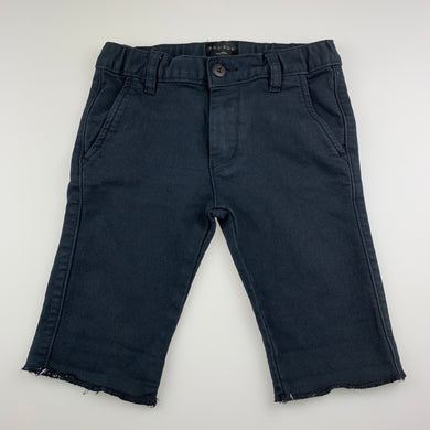 Boys Addison, dark navy stretch knit denim shorts, adjustable, EUC, size 7,