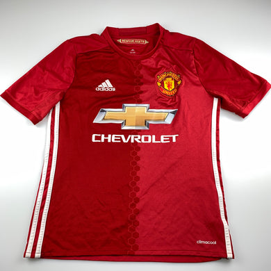 Boys Adidas, Climacool Manchester United football / sports top, small pulls on front, FUC, size 13-14,