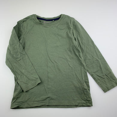 Boys B Collection, khaki cotton long sleeve t-shirt / top, FUC, size 5,