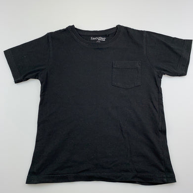 Boys Favourites, black cotton t-shirt / top, GUC, size 5,