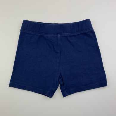 Girls B Collection, blue stretchy bike shorts, GUC, size 6,