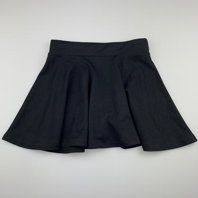 Girls Anko, black skirt, elasticated, L: 31cm, EUC, size 10,