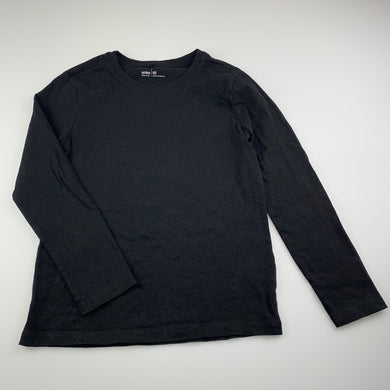 Girls Anko, black cotton long sleeve t-shirt / top, EUC, size 10,
