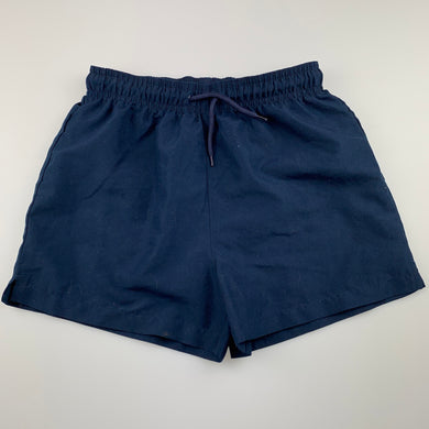 Unisex Active & Co, lined navy sports shorts, EUC, size 10,