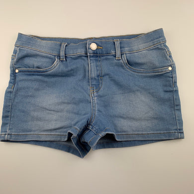 Girls 1964 Denim Co, blue stretch denim shorts, W: 70cm, GUC, size 14,
