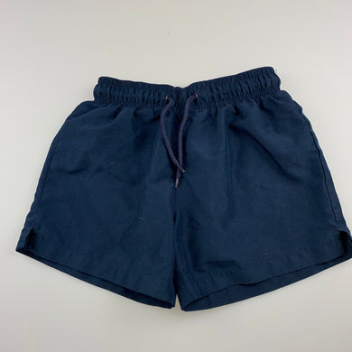 Unisex Active & Co, navy lined sports / activewear shorts, GUC, size 5,