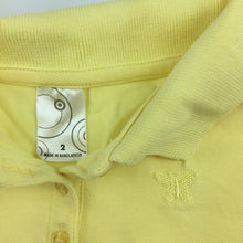 Load image into Gallery viewer, Girls Target, yellow lightweight polo shirt, GUC, size 2