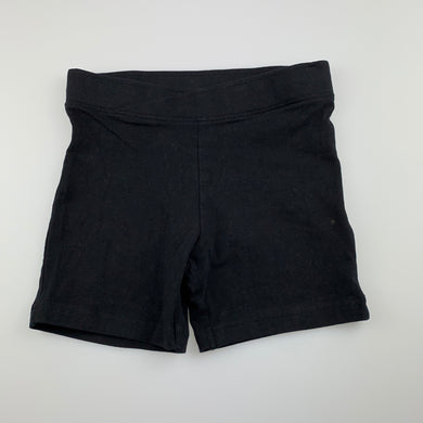 Girls Anko, black stretchy bike shorts, GUC, size 10,