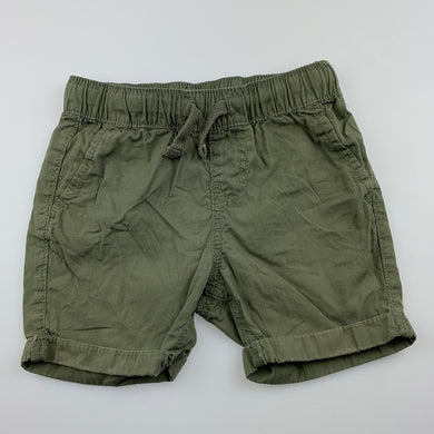 Boys Anko, khaki lightweight cotton shorts, elasticated, GUC, size 2,
