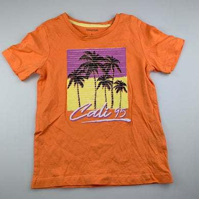 Boys Favourites, orange cotton t-shirt top, EUC, size 5,