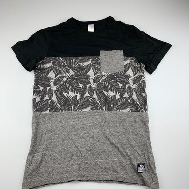 Boys Target, black and grey t-shirt top, GUC, size 14,