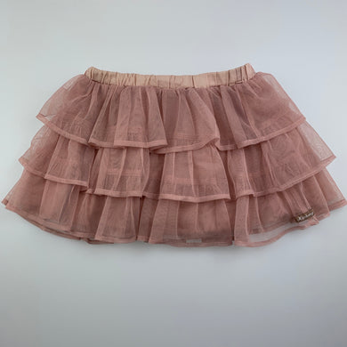 Girls Adabang, lined pink tulle skirt, elasticated, FUC, size 2,