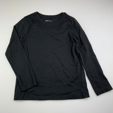 Girls Anko, black cotton Long sleeve t-shirt top, EUC, size 10,