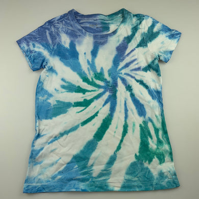 Girls Anko, tie dyed cotton t-shirt top, GUC, size 8,