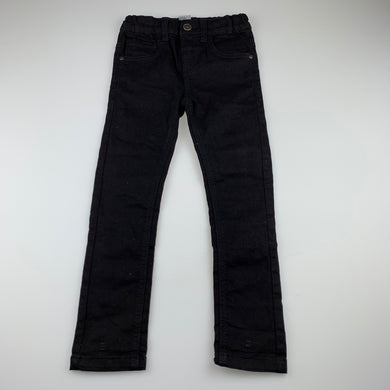 Boys Anko, black stretch denim jeans, inside leg: 47 cm, EUC, size 4,