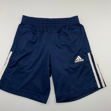 Boys Adidas, Climalite navy sports, activewear shorts, GUC, size 9-10,