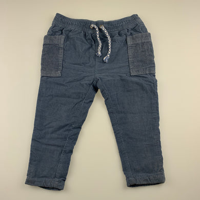 Boys Anko, lined corduroy cotton pants, elasticated, inside leg: 28 cm, GUC, size 1,