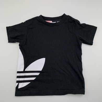 unisex Adidas, black cotton t-shirt top, EUC, size 2,