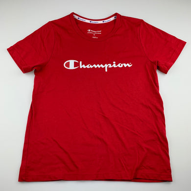 Girls Champion, red cotton sport, activewear t-shirt top, EUC, size 12,