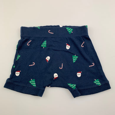 unisex Anko, navy cotton Christmas shorts, GUC, size 1,